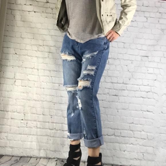 Tobi Denim - TOBI Jeans distressed medium Wash women's 27 HW !!